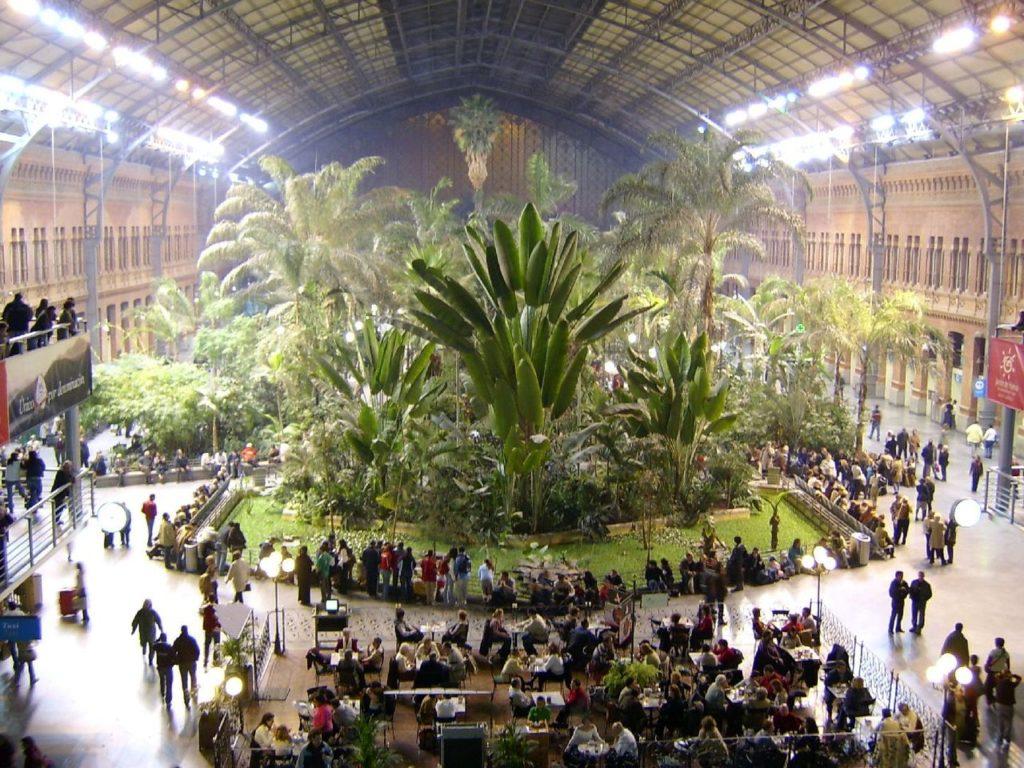 снимка на ботаническата градина в гара Аточа