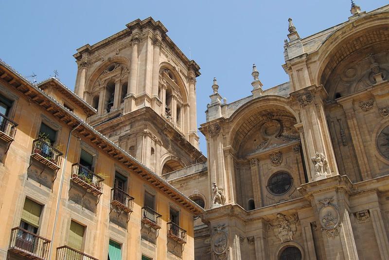снимка на част от катедралата на гранада