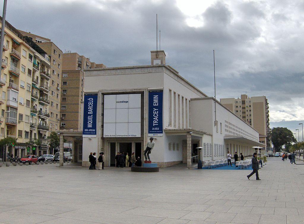 снимка на центъра за съвременно изкуство в малага